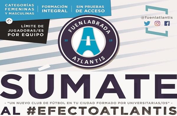 CDE Fuenlabrada Atlantis, nuevo Proyecto Deportivo para la temporada 2019/20