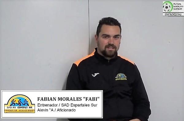"""Vídeo entrevista por Fútbol Modesto Madrid a Fabián Morales """"Fabi"""", entrenador del Alevín """"A"""" del Espartales Sur (Temporada 2018/19)"""