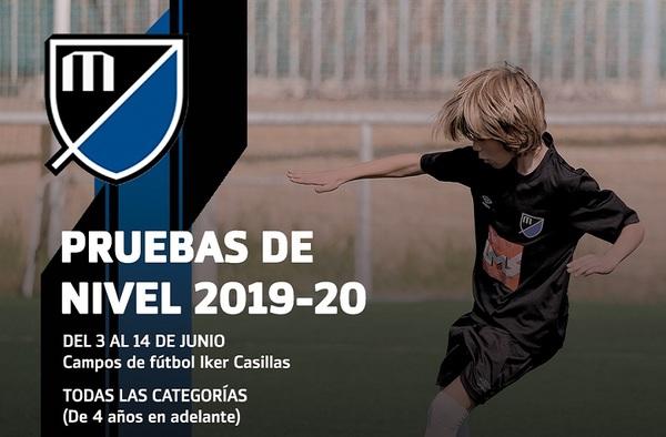 El Móstoles Balompié celebrará sus pruebas de nivel para la Temporada 2019-2020