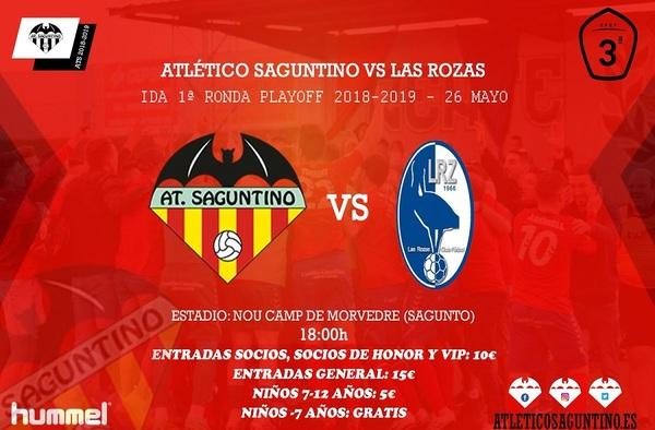 """Las Rozas CF viajará a Sagunto para jugar la 1ª ronda de playoff de ascenso a 2ª """"B"""" ante el Atl. Saguntino"""