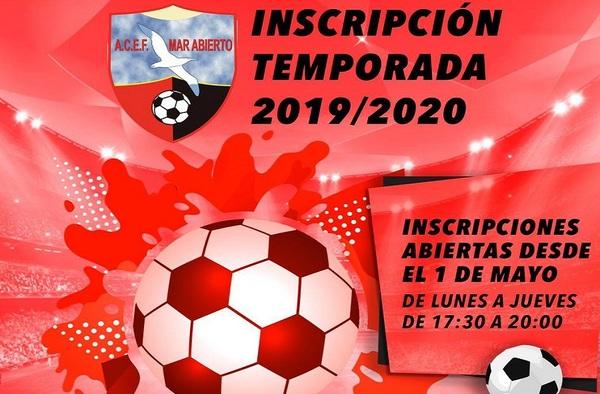 La Escuela de Fútbol Mar Abierto abre su periodo de inscripción para la temporada 2019-2020