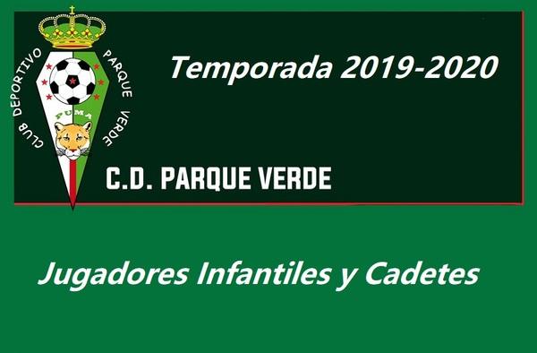 C.D. Parque Verde busca jugadores Infantiles y Cadetes para la temporada 2019-2020