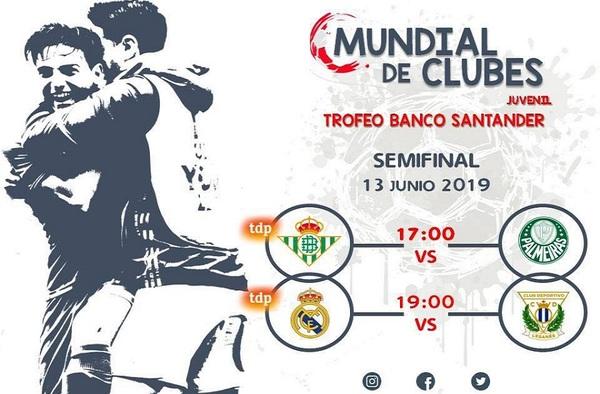 Hoy jueves 13 de junio de 2019 se disputan las Semifinales del Mundial de Clubes Juvenil (Televisado por Teledeporte)