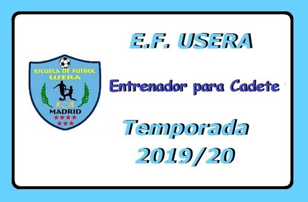 La EF Usera busca entrenador para equipo Cadete - Temporada 2019/2020