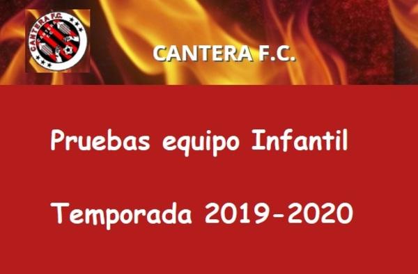 Pruebas para el Infantil de Primera en el Cantera FC el 25 de Junio de 2019