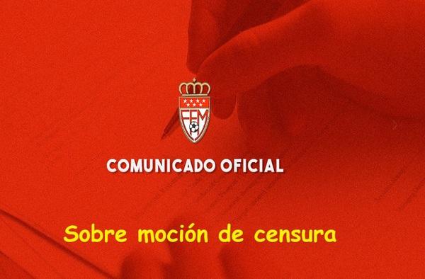 Comunicado oficial de la RFFM ante la moción de censura presentada por Jesús Díaz Peramos