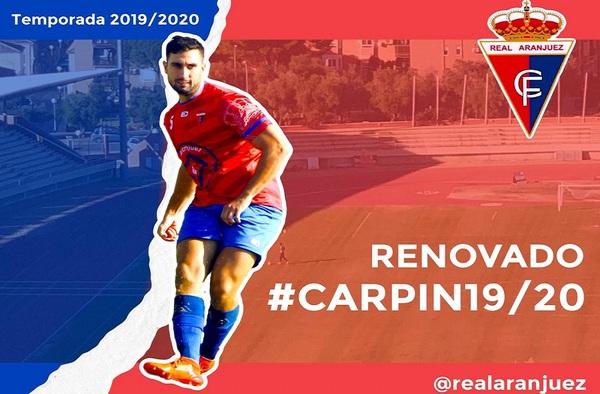 """Guille Corral y Ángel Carpintero """"Carpin"""", renovaciones en la plantilla 2019/20 del Real Aranjuez CF"""