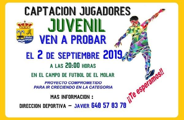 Captación de jugadores del Molar Sport en categoría Juvenil - Temporada 2019-2020