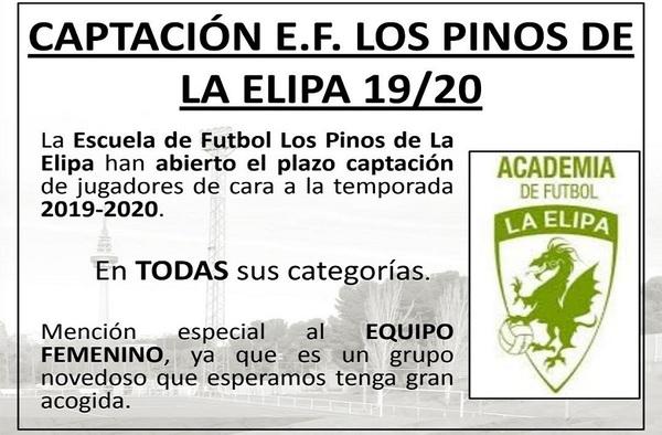 Captación de jugadores en la EF Pinos La Elipa - Temporada 2019-2020