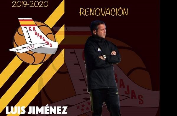 Luis Jiménez seguirá a los mandos del C.D. Barajas para la temporada 2019/20