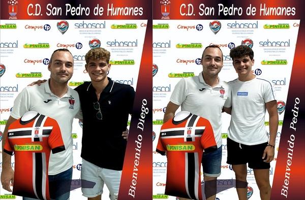 El C.D. San Pedro de Humanes informa de sus dos primeros fichajes, Diego Domínguez y Pedro Domínguez