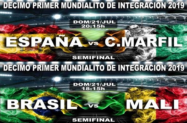 Mali-Brasil / España-Costa de Marfil: semifinales del XI Mundialito de la Integración