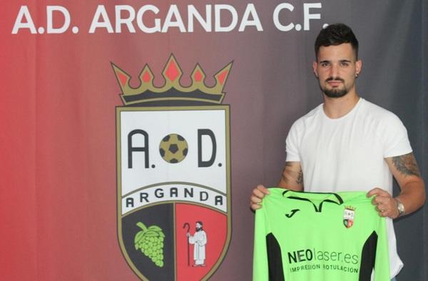 El portero Javi Ruiz, primer fichaje de la AD Arganda CF para la temporada 2019/20