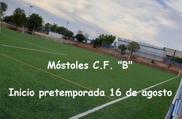 """El viernes 16 de agosto de 2019 comenzará la pretemporada del Móstoles C.F. """"B"""""""
