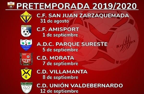 El C.D. Racing de Moratalaz jugará seis partidos en la pretemporada 2019-2020