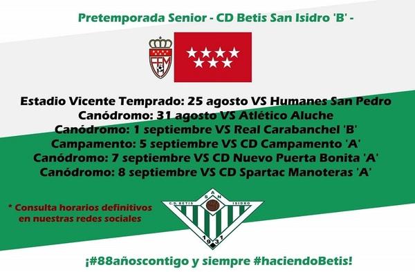 "Presentada la pretemporada 2019-2020 del C.D. Betis San Isidro ""B"""