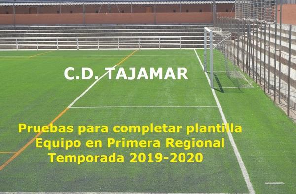El C.D. Tajamar busca jugadores para completar su plantilla - Temporada 2019-2020