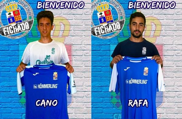 Rafa Feliciano y Alejandro Cano, firman por el Camarma CF para la temporada 2019/20