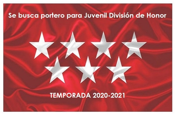 Se busca portero para Juvenil División de Honor - Temporada 2020/2120
