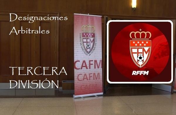 Designaciones arbitrales para la 5ª jornada de Tercera División - Temporada 2019/20