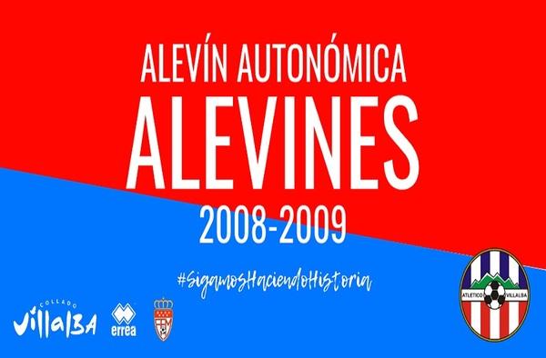 El Atlético Villalba busca jugadores para su equipo de Alevín Autonómica -  Temporada 2019/20