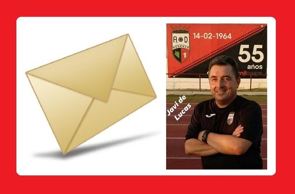 Carta pública de agradecimiento a la A.D. Arganda C.F.  por parte del técnico Javier De Lucas