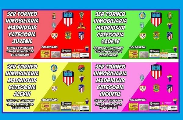 El III Torneo Inmobiliaria MadridSur se celebrará del 6 al 8 de diciembre de 2019 en Villaconejos