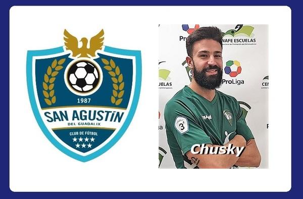 """Jesús Sánchez """"Chusky"""" regresaba al San Agustín del Guadalix debutando en la jornada 15ª"""