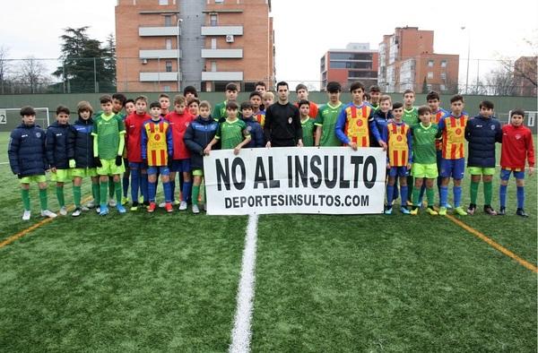 Lección de Juego Limpio de Los Yébenes San Bruno y EMF Aluche para decir 'No a la Violencia y al Insulto'