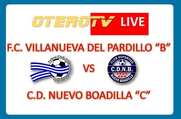 """Retransmisión en directo del partido juvenil entre el Villanueva del Pardillo """"B"""" y el C.D. Nuevo Boadilla """"C"""" - Temporada 2019/20"""