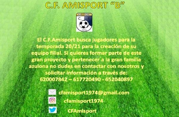 El C.F. Amisport crea un equipo filial para la temporada 2020/21