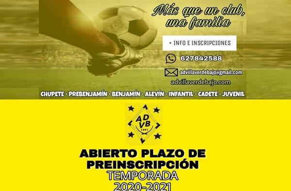 Abierto el plazo de Preinscripción en la A.D. Villaverde Bajo para la temporada 2020/21