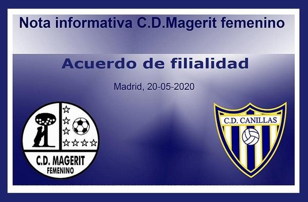 El C.D. Magerit Femenino llega a un acuerdo para ser filial del C.D. Canillas - Temporada 2020/21