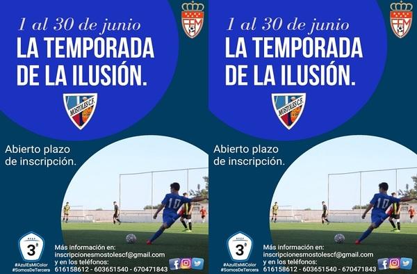 Abierto el plazo de inscripción en el Móstoles C.F. - Temporada 2020/21