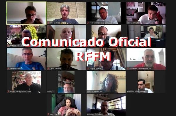 El Presidente Paco Díez y su Junta Directiva acuerdan la devolución íntegra de la parte proporcional de canon de partidos no disputados y usos de entrenamiento en las instalaciones de la RFFM