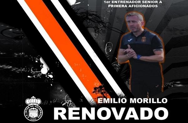 El Inter de Valdemoro informa de la renovación del técnico Emilio Morillo en el día de su 37ª Aniversario