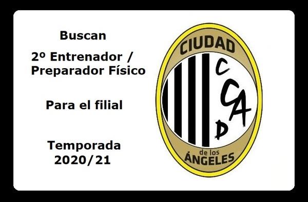 El C.D. Ciudad de los Ángeles busca 2º entrenador / preparador físico para su filial - Temporada 2020/21