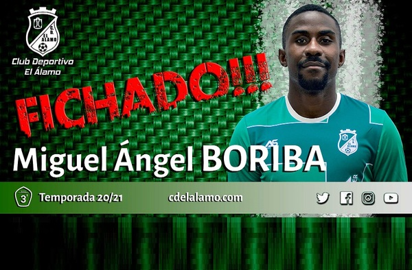 Boriba se convierte en el primer fichaje del C.D. El Álamo para la temporada 2020/21
