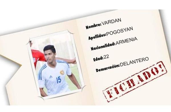 El joven jugador armenio Pogosyan debutó con el Sanse