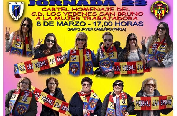 Homenaje a la mujer trabajadora del C.D. Los Yébenes San Bruno