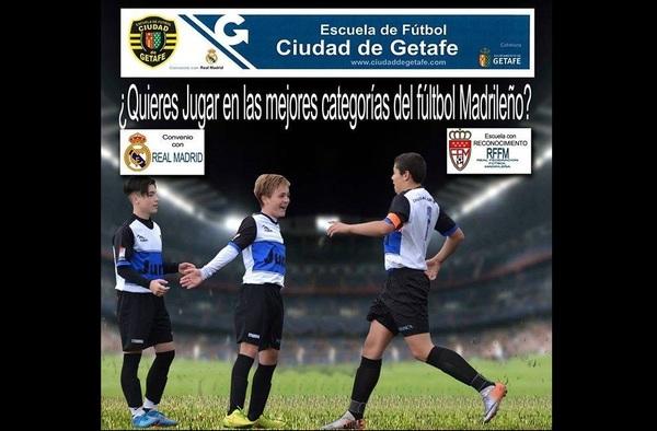 ¿ Quieres jugar en las mejores categorías del Fútbol madrileño ?, ven a la E.F. Ciudad de Getafe