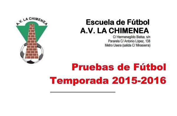 Pruebas para Jugadores Infantiles en La Chimenea - Categoría Autonómica (Temporada 2015/16)