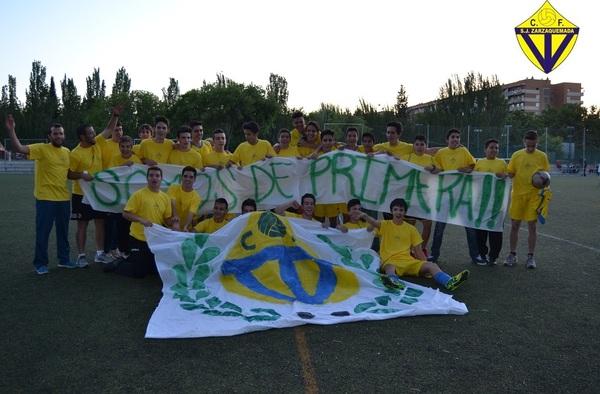 Tras el ascenso del Cadete del C.F. San Juan Zarzaquemada a Primera, buscan jugadores para el equipo en la temporada 2015/16