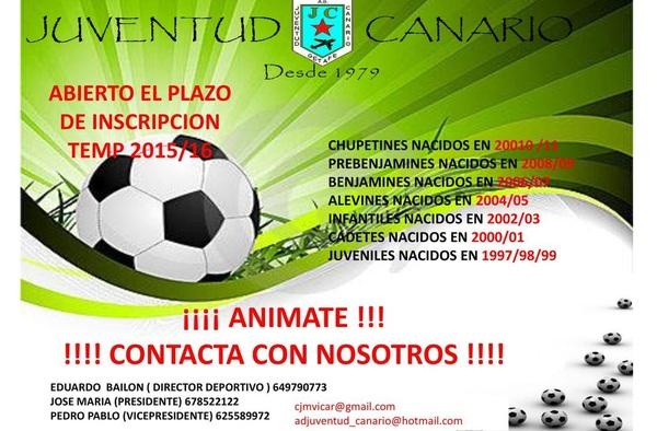 Abierto el plazo de inscripción en el Juventud Canario - Temporada 2015/16