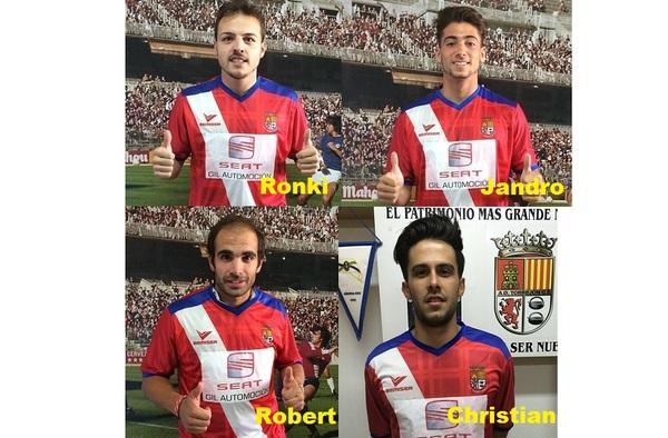 Ya son oficiales los primeros cuatro fichajes de la AD Torrejón C.F. del técnico José Gallardo