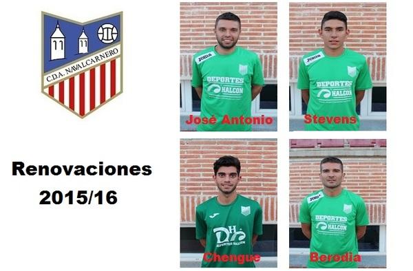Nuevas renovaciones y bajas en la plantilla del C.D.A. Navalcarnero para la temporada 2015/16