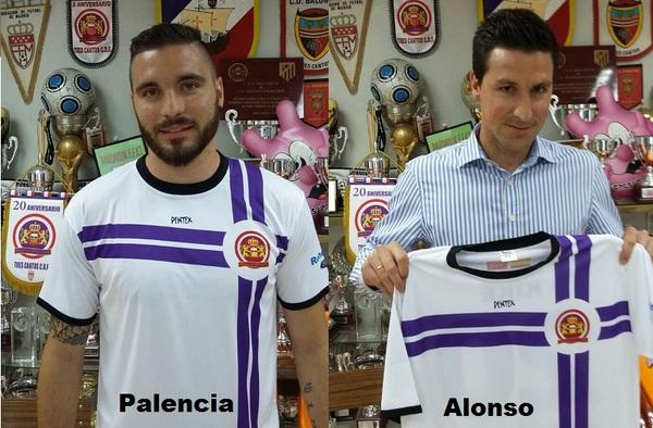 Javier Palencia y David Alonso nuevos fichajes del Tres Cantos C. D. F. para la temporada 2015/16