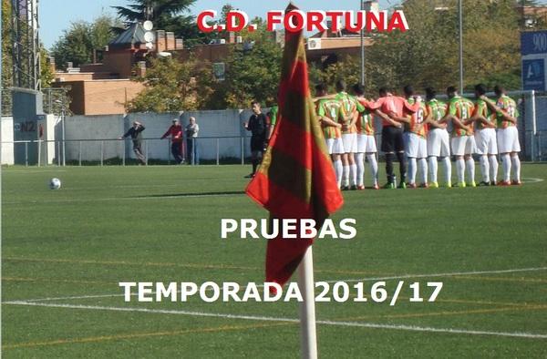 Abierto el plazo de inscripción en el C.D. Fortuna - Temporada 2016/17