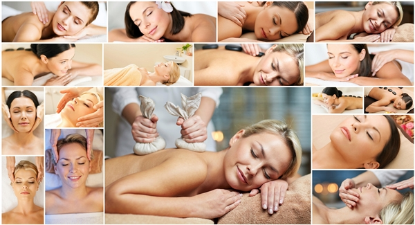 spa services collage