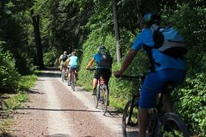 Cyclists on Bike Trail
